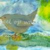 vogel op waterlelie